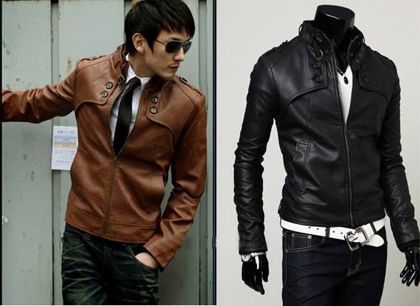 Jaket KOREA cowok segala ukuran segala warna hitam coklat muda coklat tua