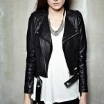Jaket cewek Angelina warna hitam jaket modis pilihan para wanita