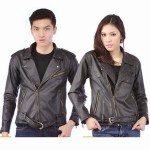 Jaket Couple Murah Model Jaket Semi Kulit Couple Hitam