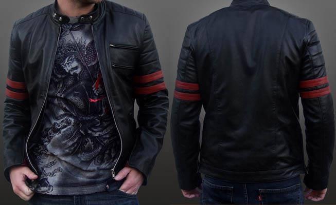 Jenis Model Jaket Semi Kulit Pria Terbaru Terbaik 2015 KODE NEW-103