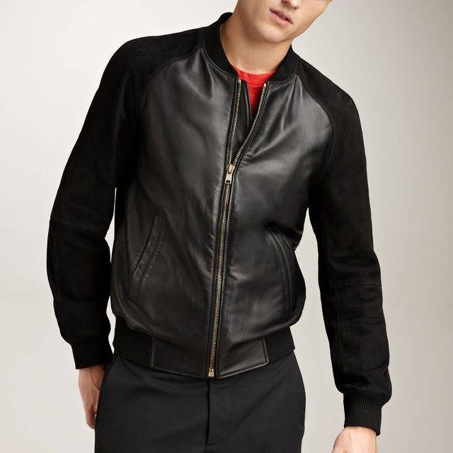 Jenis Model Jaket Semi Kulit Pria Terbaru Terbaik 2015 KODE SIMPLE 02