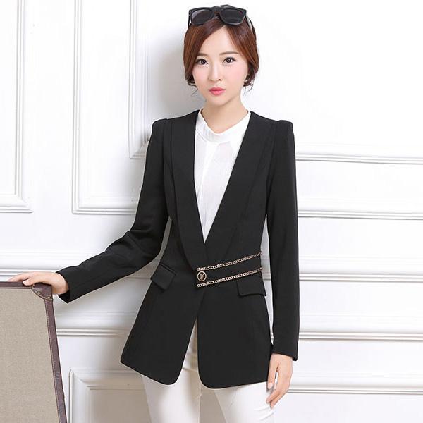 Model Blazer dan jas modern blazer kerja wanita hitam modern