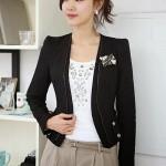 Model Blazer dan jas modern blazer kerja wanita hitam santai