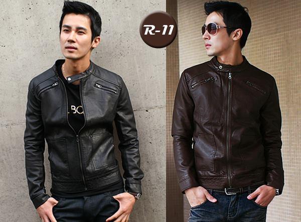 Model Jaket Kulit Sintetis R-11 Model Jaket Korea Pria Terbaru Dengan Gaya Korean Style