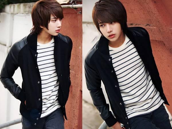 Model Jaket Kulit Sintetis SK-34 B Model Jaket Korea Pria Terbaru Dengan Gaya Korean Style