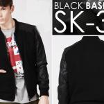 Model Jaket Kulit Sintetis SK-34 Model Jaket Korea Pria Terbaru Dengan Gaya Korean Style