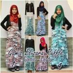 Gamis El zara Ruffle Pakaian Muslim Wanita Model Pakaian Muslim