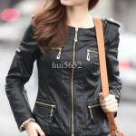 JAKET KULIT CEWEK Model Jaket Korea Online Wanita Terbaru 2015