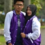 Jaket Couple Online Murah Di Solo dan Bandung Warna Putih Ungu