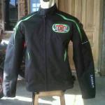 Jaket motor touring LAC Boyolali tampak depan