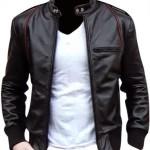 Jaket semi kulit Ariel NOAH warna hitam asli kulit sintetis