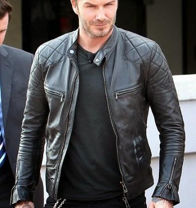 JG-08 Beckham Jaket Keren Dipake David Beckham Mantan Pemain Sepakbola Jaket Kulit Pria Murah