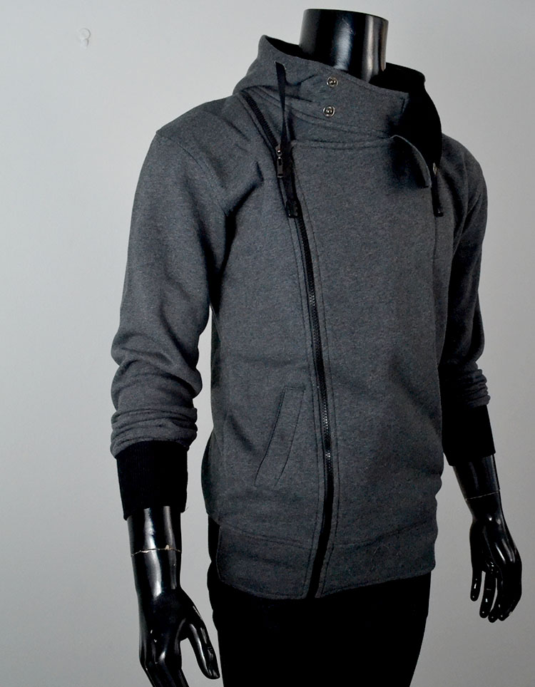 Jaket Korea Harakiri Kode JK-75 Abu Tua Fashion Korea Murah Terbaru