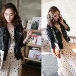 Jaket Kulit Wanita Murah Model Jaket Korea Wanita Terbaru 2015