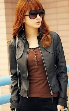 Model Jaket Wanita KOREA 02 Jaket Korea Wanita Semi Kulit