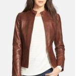 Model jaket wanita HIGHT STYLE Coklat Sedang Murah