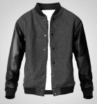 Jaket Baseball BHM Grey