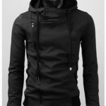 Jaket Korea Harakiri Murah Sweater Hoodie Hitam Polos Terlaris