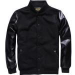 Fashion Kualitas Tinggi Mens Kasual PU Faux Kulit Lengan Jual Jaket Baseball Online Model Keren