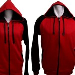 Jaket Couple Distro Sweater Couple Distro Merah Hitam