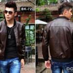Jaket Kulit Cowok BK-72 Model Jaket Kulit Terbaru Tahun Ini