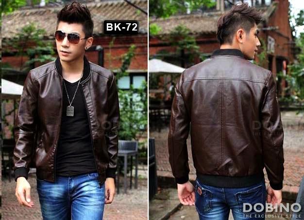 Jaket Kulit Cowok BK-72 Model Jaket Kulit Terbaru Tahun Ini  69be5ebe6f