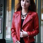 Jaket Kulit Wanita Merah Model Jaket Kulit Wanita Menarik
