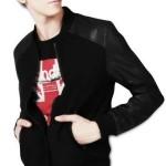 Jaket Semi Kulit Kombinasi Fleece Hitam Jaket Polos Murah Dengan Model Yang Keren