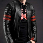 Measure X-Men Wolverine Leather Jacket Jaket Sport Untuk Pria