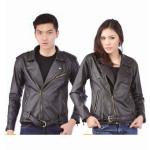 Model Jaket Kulit Asli Hitam JC-25 Peluang Bisnis Sweater Couple Jual Jaket Couple