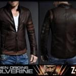 X-Man Wolverine Model Jaket Kulit Pria Keren Terlaris