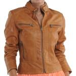 Jaket Cewek Coklat CW-32 Gambar Model Jaket Wanita Terbaru Yang Modis