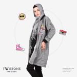 Jaket Wanita Terbarun HJ-TWISTONE CHARCOAL