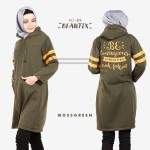 Model Jaket Wanita Terbaru 2017 HJ-BX MOSSGREEN