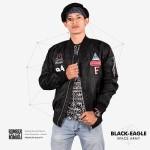 Jaket Bomber Pria Terbaru BLACK EAGLE- Space Army