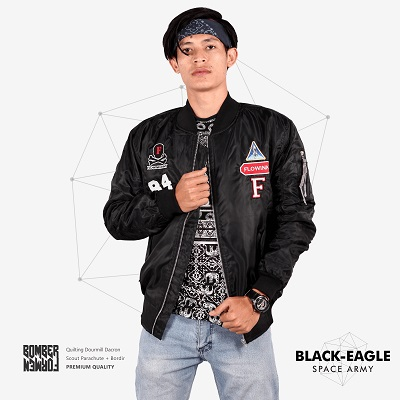 Jaket-Bomber-Terkeren-2017-BLACK EAGLE SPACEARMY - V2