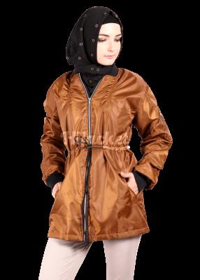 model jaket wanita muslimah terbaru masa kini 2017- 2018-Bomber