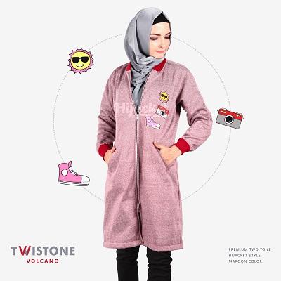 model jaket wanita muslimah terbaru masa kini 2017- 2018-TWISTONE